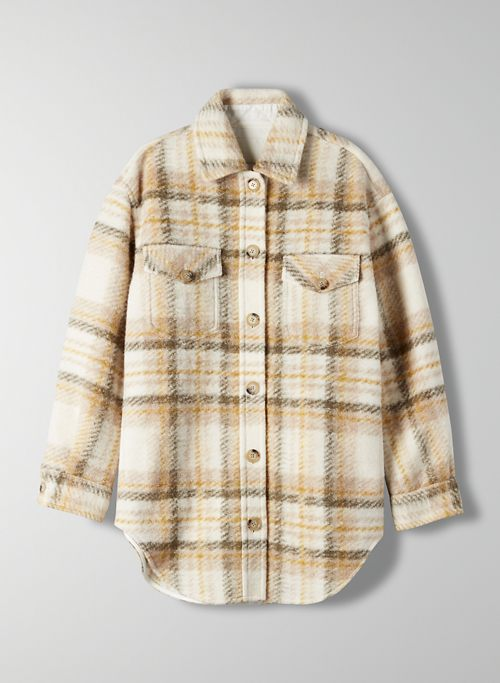 GANNA JACKET - Plaid wool utility jacket