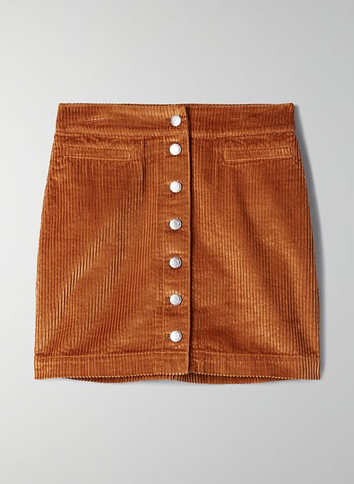 NEW BUTTON-FRONT MINI SKIRT | Aritzia