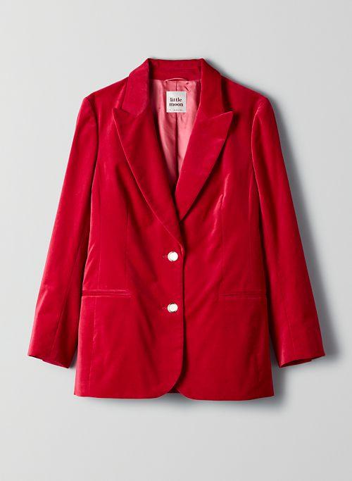 VESPER VELVET BLAZER - Single-breasted velvet blazer
