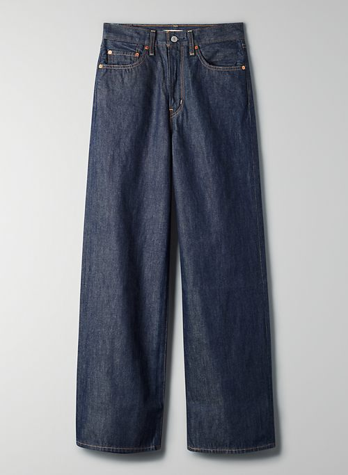 RIBCAGE WIDE LEG - High-waisted, wide-leg jean