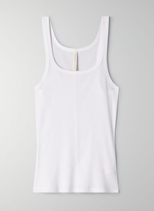 APOLLO TANK - Ribbed scoop-neck tank