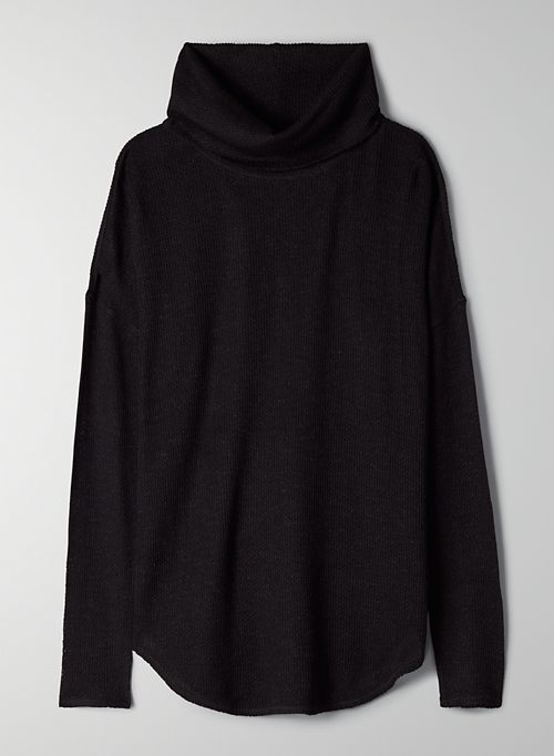 THERMAL COWLNECK - Cowl-neck waffle longsleeve
