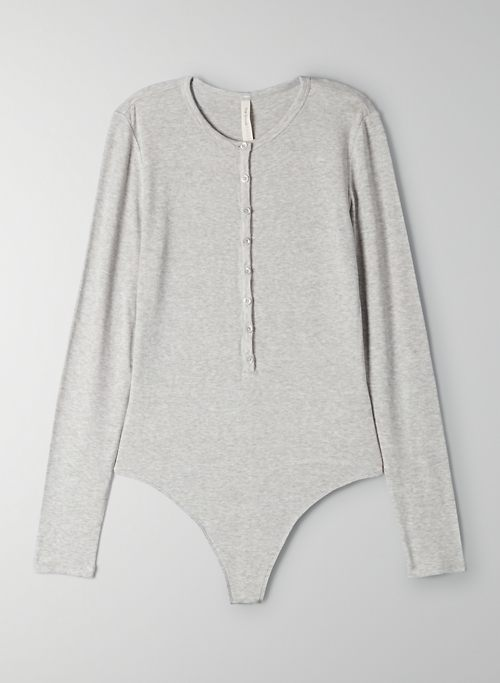 JEWELL BODYSUIT - Long-sleeve henley bodysuit