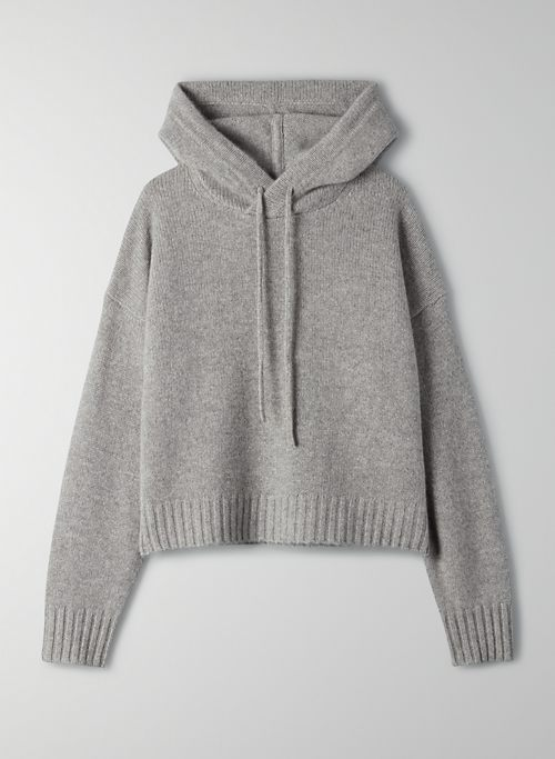 LUXE CASHMERE HOODIE - Slightly oversized cashmere hoodie