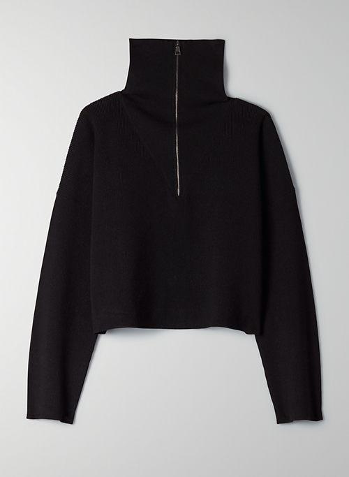 RODIN SWEATER - Quarter-zip mockneck sweater