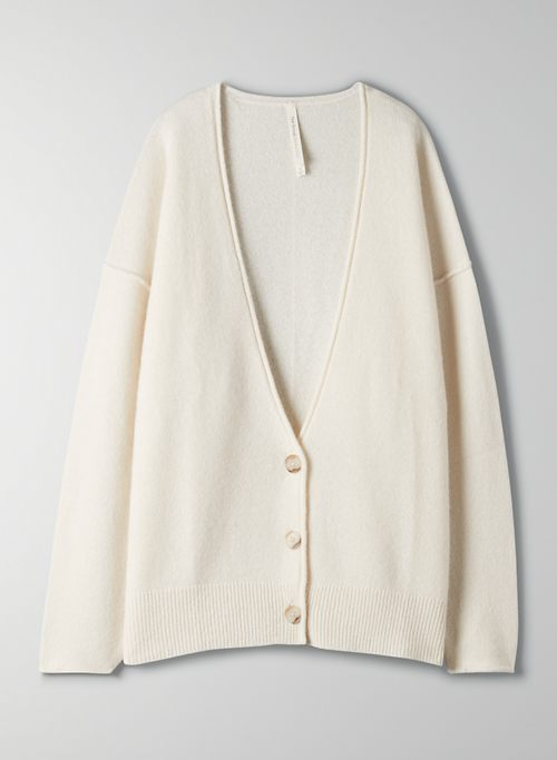 LUXE CASHMERE CARDIGAN - Oversized cashmere cardigan