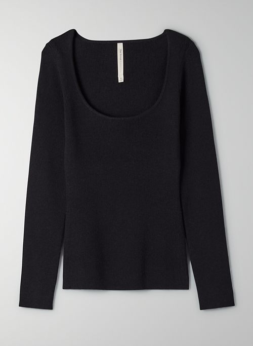 MCWAY SWEATER - Ribbed, scoop-neck sweater