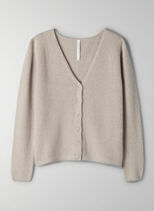 NEW LOUNGE CARDIGAN - Button front, v-neck cardigan