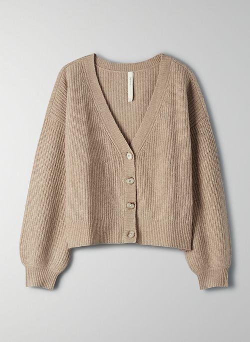 LAGOON CARDIGAN - V-neck merino wool cardigan