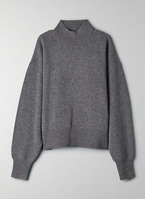 LAGOON SWEATER - Mock neck wool sweater