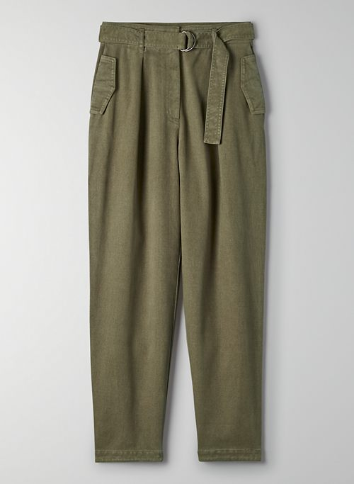 BALBOA PANT - High-waisted, pleated utility pants