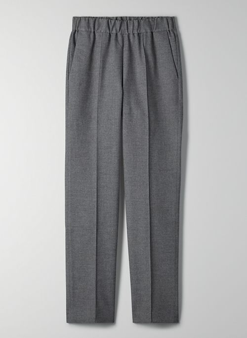 QUARRY PANT - High-waisted flannel pant
