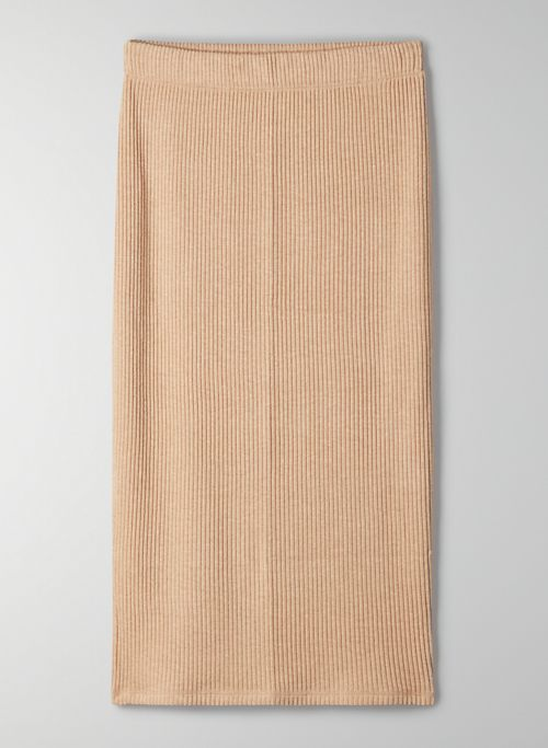 TRAVERSE SKIRT - High-waisted ribbed pencil skirt