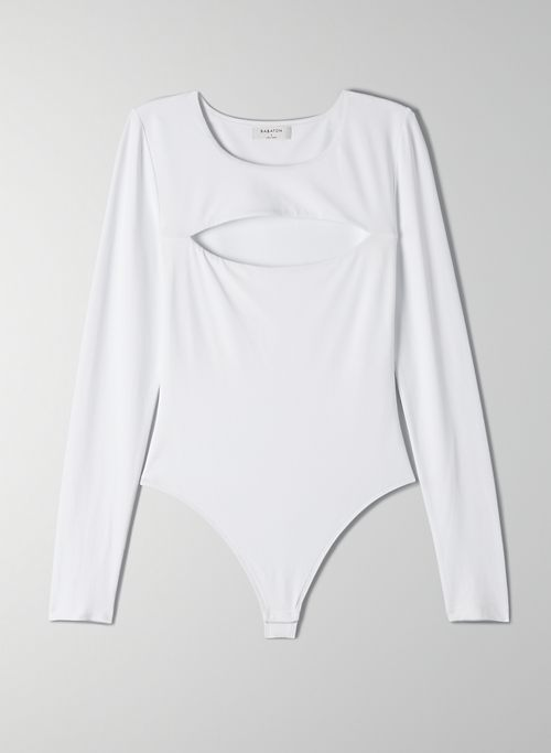 CONTOUR CUT-OUT LONGSLEEVE BODYSUIT - Long sleeve cut-out bodysuit