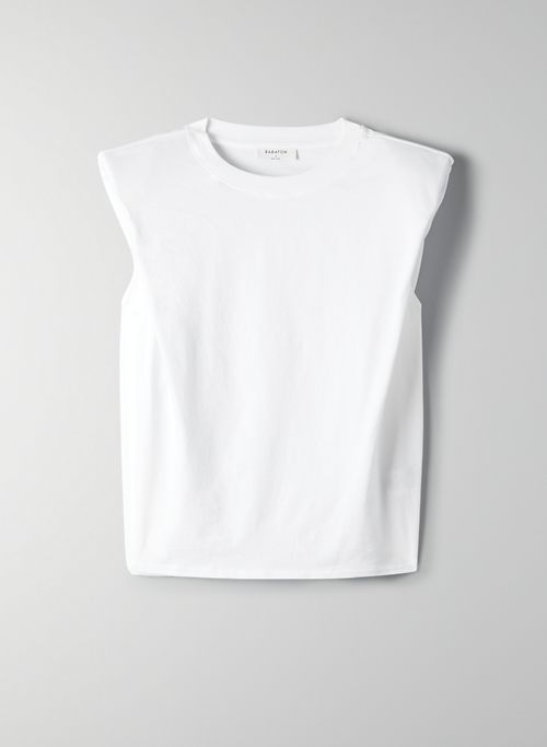 LOCKWOOD TANK - Sleeveless crew-neck tank