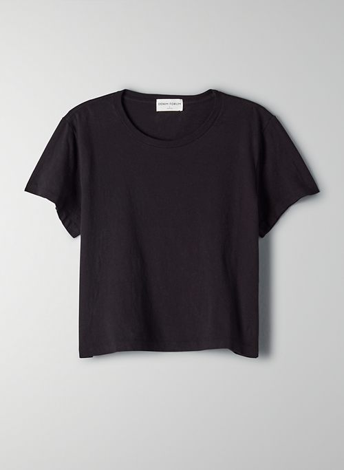 THE KATE CROP TEE - Cropped cotton t-shirt