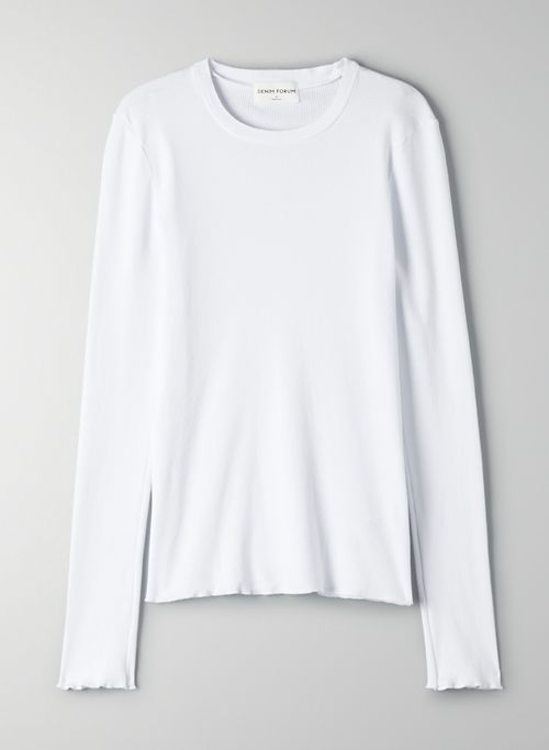 THE NINA LONGSLEEVE RIBBED TEE - Ribbed long-sleeve t-shirt