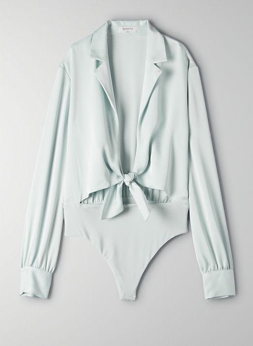ACE BODYSUIT - Tie-front blouse bodysuit
