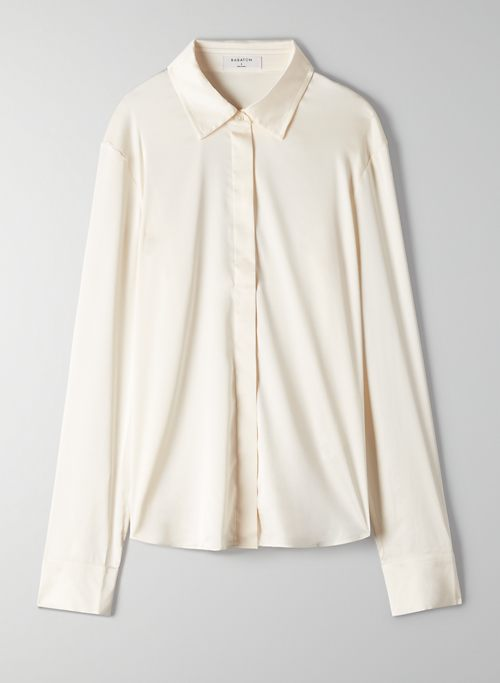 AMARGO BLOUSE - Satin button-up shirt