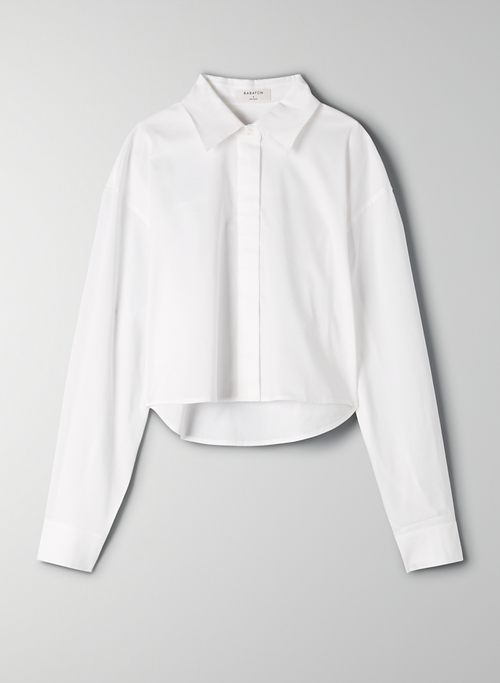 CLOONEY BLOUSE - Cropped button-up shirt
