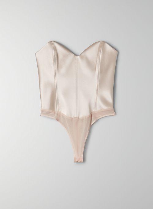 BLAZE BODYSUIT - Satin corset bodysuit