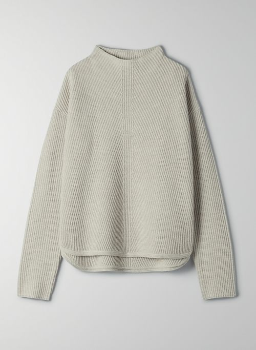 CHALMERS SWEATER - Mock neck sweater with drop shoulders