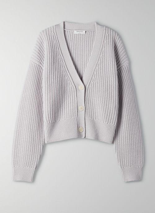 CANBERRA CARDIGAN - Cropped wool cardigan