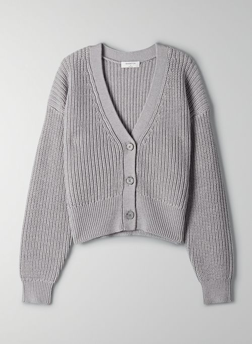 CANBERRA CARDIGAN - Cropped wool cardigan