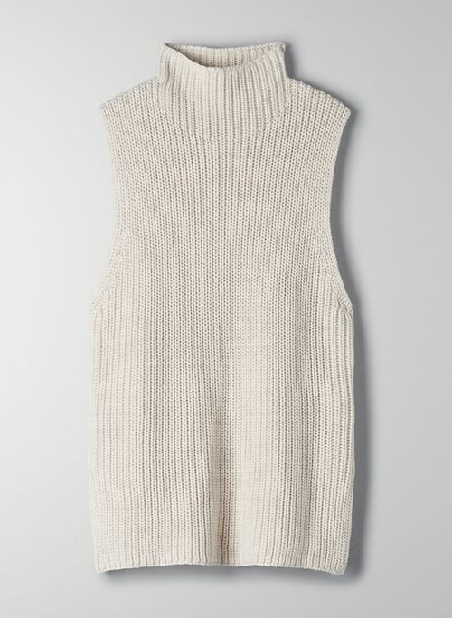 CANBERRA TURTLENECK - Sleeveless knit turtleneck