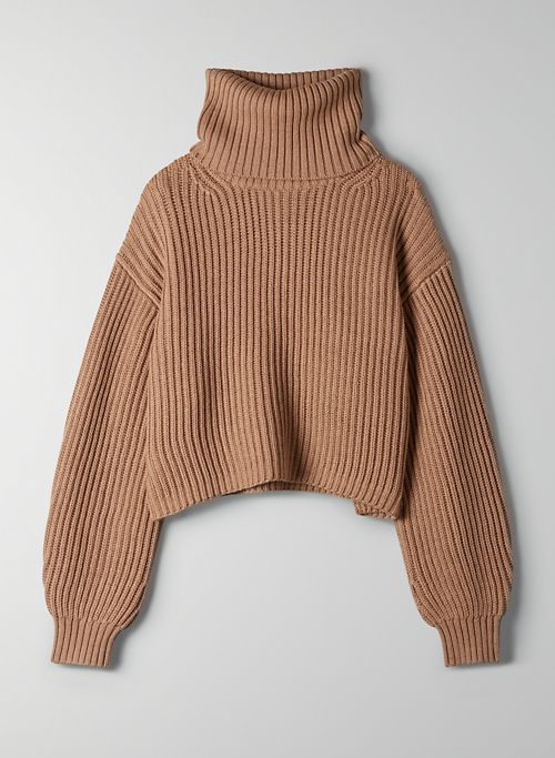 GUELL SWEATER - Cropped turtleneck sweater