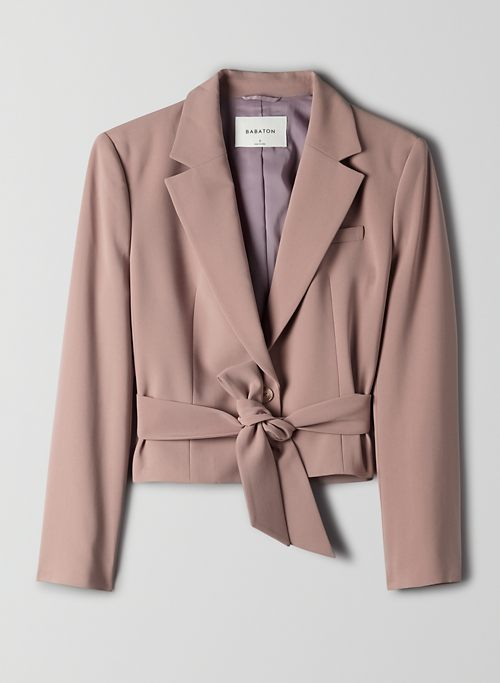 SANTOS BLAZER - Belted cropped blazer