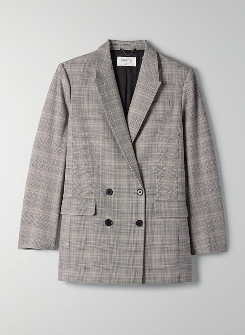IVY BLAZER - Double-breasted plaid blazer