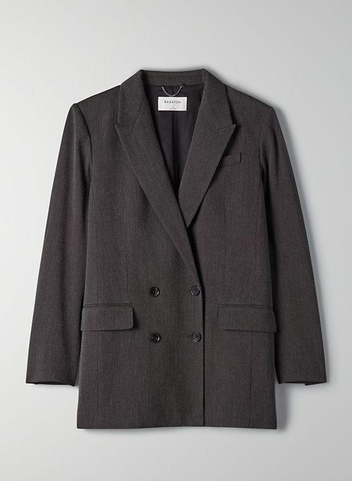 IVY BLAZER - Double-breasted plaid blazer