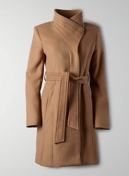 THE CONNOR COAT - Belted wrap wool coat