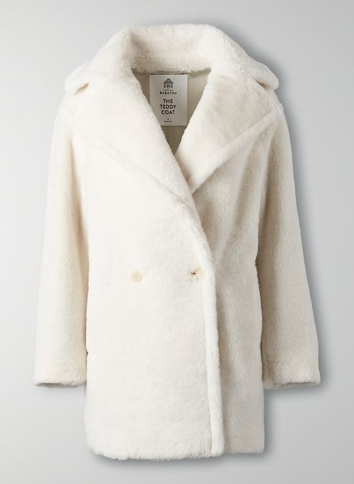 THE TEDDY COAT SHORT - Oversized double-breasted wool coat