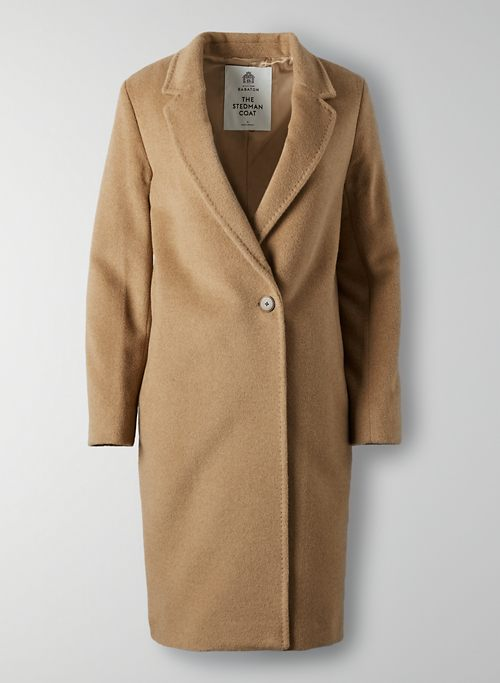 THE STEDMAN COAT - Single breasted wool coat