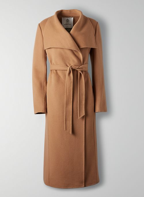 MONTAGE COAT - Long wool wrap coat