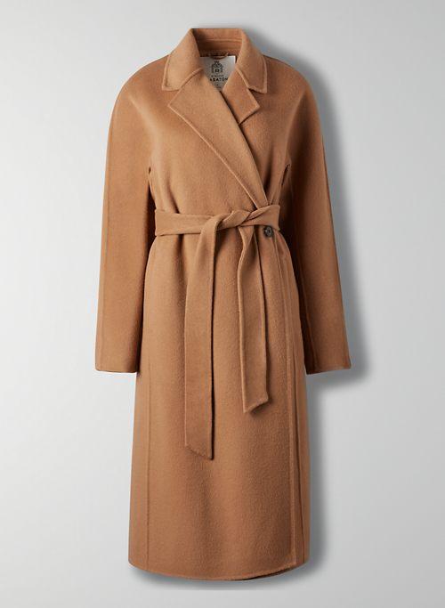 FAIRMONT COAT - Italian wool wrap coat