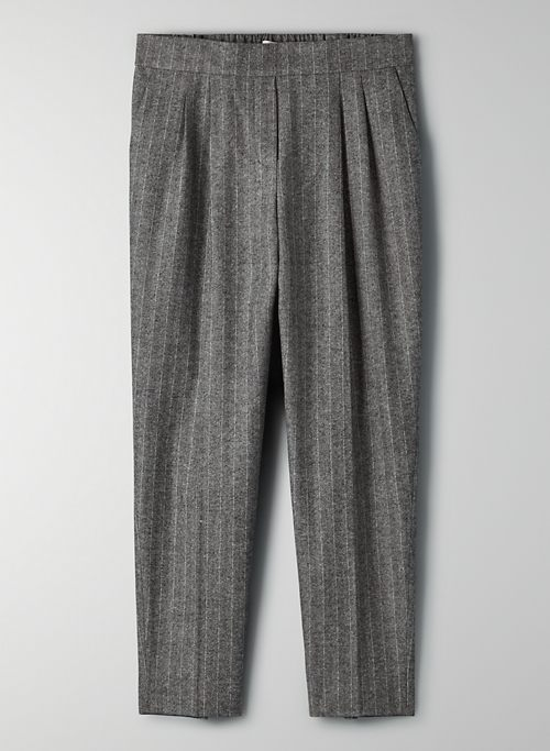 COHEN PANT - Cropped, wool-blend, pleated dress pant