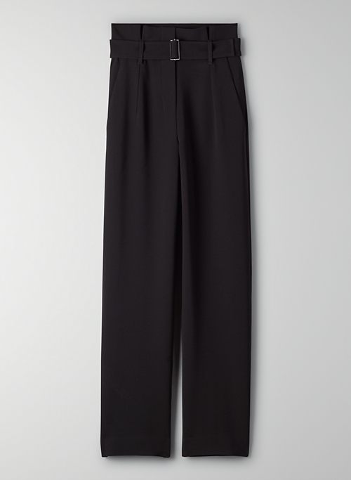 POWER PANT - Belted high-waisted pants