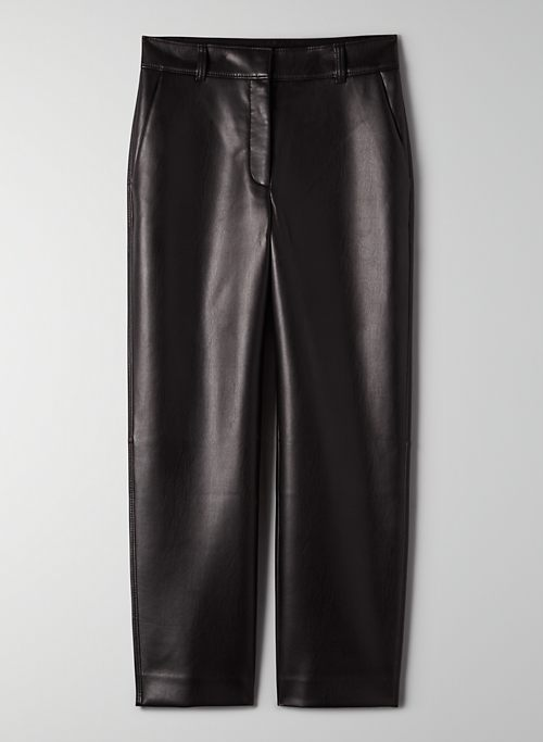 VEGAN LEATHER STRAIGHT PANT - Vegan leather pants