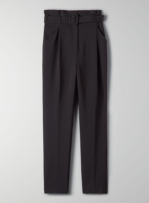 ENCORE PANT - High-rise belted trousers