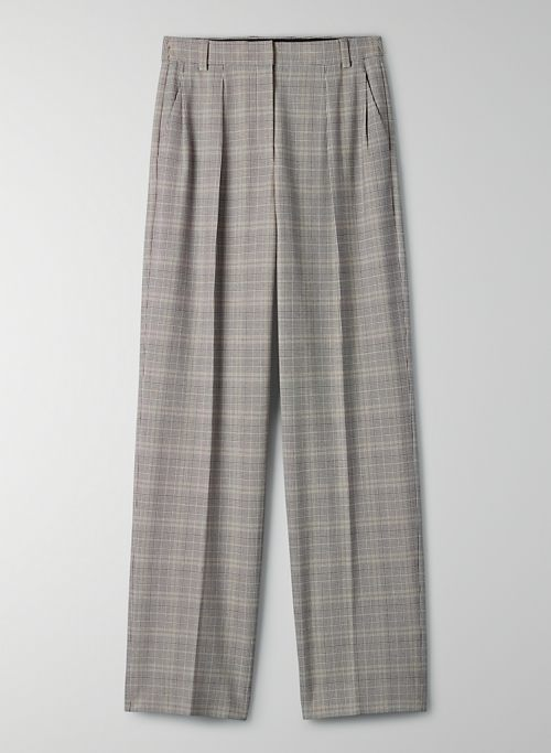 CASCADE PANT - Wide-leg plaid trousers