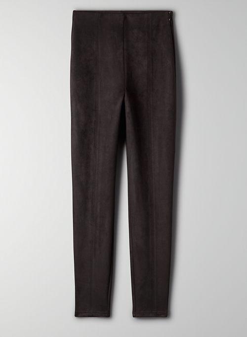 MACE PANT - Skinny vegan suede pants