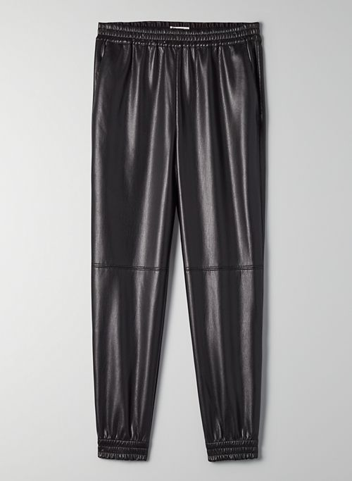 ZEDEL PANT - Vegan leather joggers