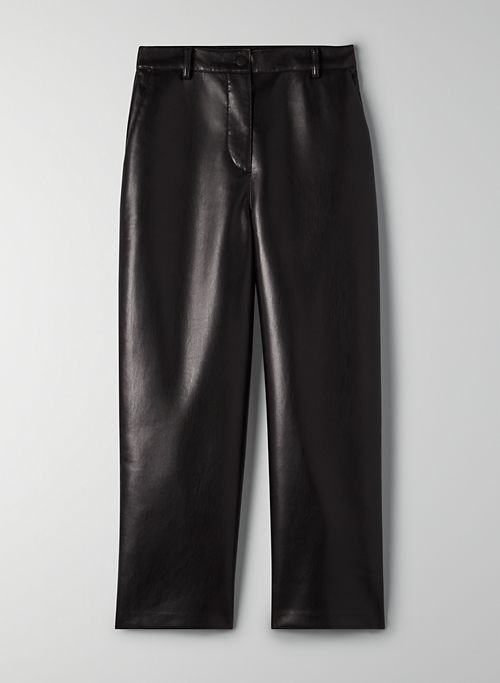 CONEY PANT - Wide-leg, vegan leather trousers