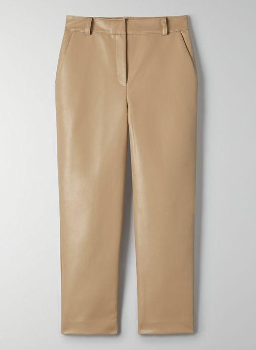 COMMAND PANT - Mid-rise vegan leather pant