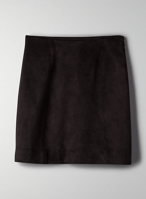 MODERN MINI SKIRT - Vegan suede mini skirt