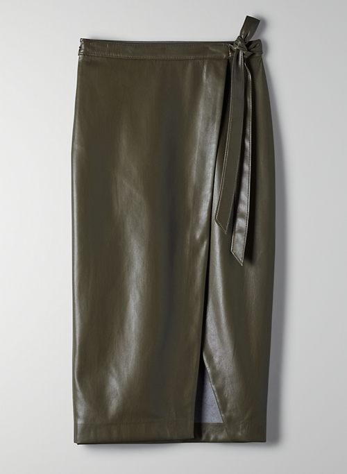 PELLI SKIRT - Vegan leather wrap skirt