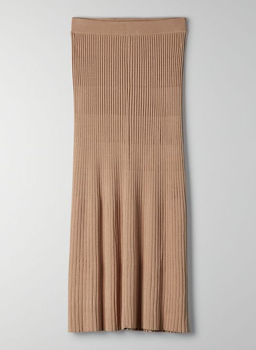 CAROUSEL SKIRT - Pleated knit midi skirt